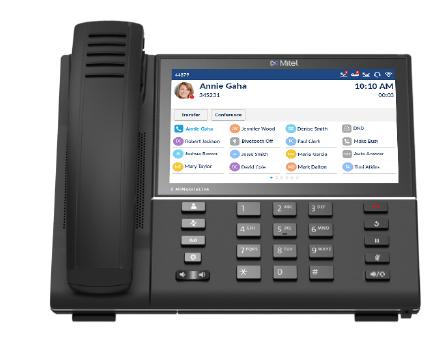 Hosted telefonie met IP-toestel van Mitel