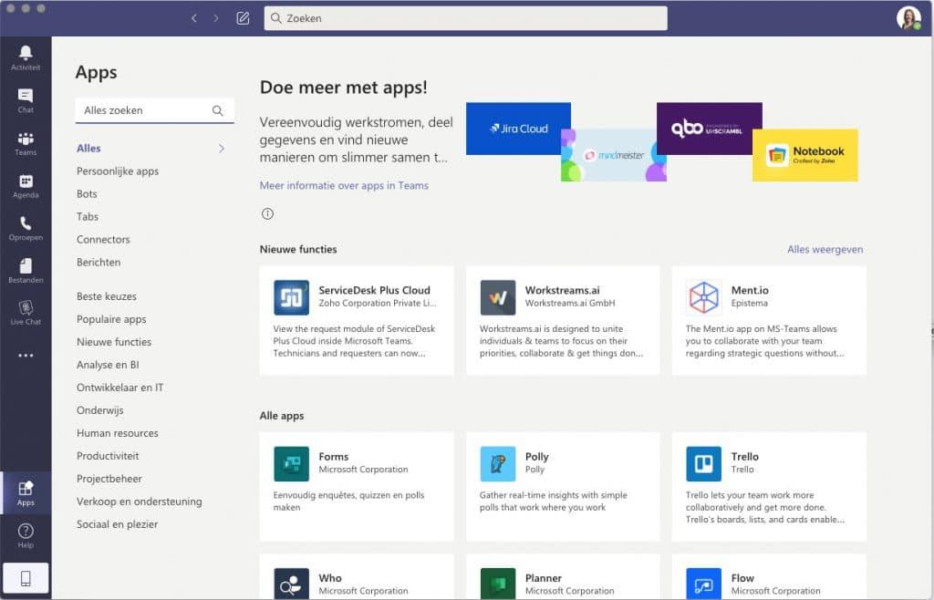 Apps Microsoft Teams - downloaden